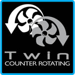 Side-Power Twin Counter-Rotating